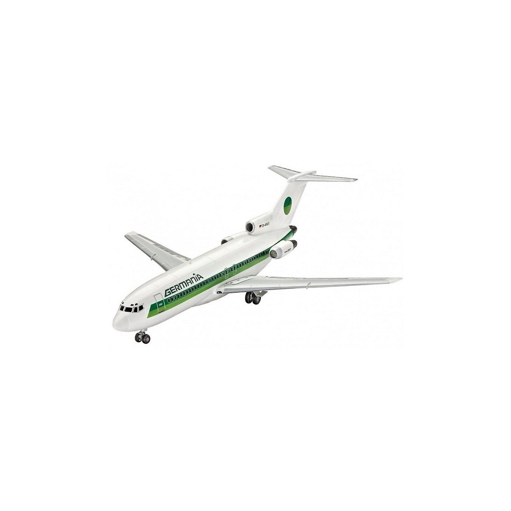 Пасскажирский самолет Boeing 727-100 авиакомпании GermaniaМодели для склеивания<br>Сборная модель пассажирского лайнера Boeing 727-100 в масштабе 1 к 144. Детали модели изготовлены из пластика. Их необходимо склеить, а затем окрасить. Рекомендуем использовать акриловую или эмалевую краску.  <br>В набор входят декали для сборки самолета в ливрее авиакомпании Germania <br>Внимание! В комплект не включены расходные материалы и инструменты. Клей и краски необходимо приобретать отдельно. <br>Масштаб модели: 1/144  <br>Длина модели в собранном виде 27,1 сантиметра  <br>Размах крыльев  23 сантиметра  <br>В комплекте 51 деталь, декали и руководство по сборке <br>Рекомендуется для детей в возрасте от 10 лет.<br><br>Ширина мм: 9999<br>Глубина мм: 9999<br>Высота мм: 9999<br>Вес г: 9999<br>Возраст от месяцев: 120<br>Возраст до месяцев: 2147483647<br>Пол: Мужской<br>Возраст: Детский<br>SKU: 7122363