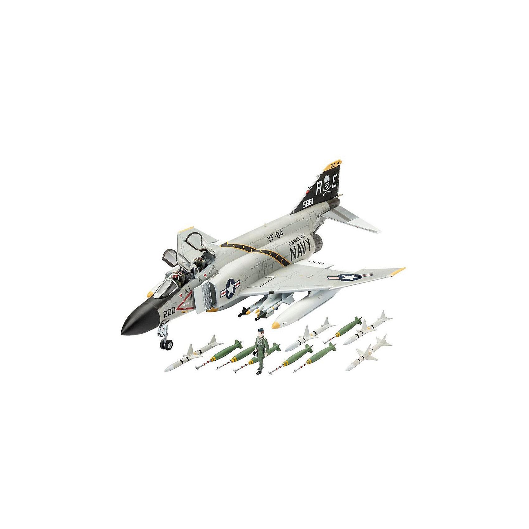 Многоцелевой истребитель F-4J Phantom US NavyМодели для склеивания<br>Сборная модель самолета F-4J Phantom US Navy 03941 в масштабе 1/72.  <br><br>В собранном виде длина модели составляет 24,5 см. Размах крыльев - 16,4 см. В комплекте 85 деталей.  <br><br>Также в набор включены декали для создания следующего борта - VF-84 Jolly Rogers , AE200/BuNo 155861 (на август 1970 года) <br><br>Модель истребителя продается в картонной коробке. Ее размер: 24,5х16,4 см. <br>Сборная модель выполнена из пластика. Ее необходимо склеить и затем окрасить. Клей и краски приобретаются отдельно <br>Рекомендуемый возраст: от 10 лет.<br><br>Ширина мм: 9999<br>Глубина мм: 9999<br>Высота мм: 9999<br>Вес г: 9999<br>Возраст от месяцев: 120<br>Возраст до месяцев: 2147483647<br>Пол: Мужской<br>Возраст: Детский<br>SKU: 7122366