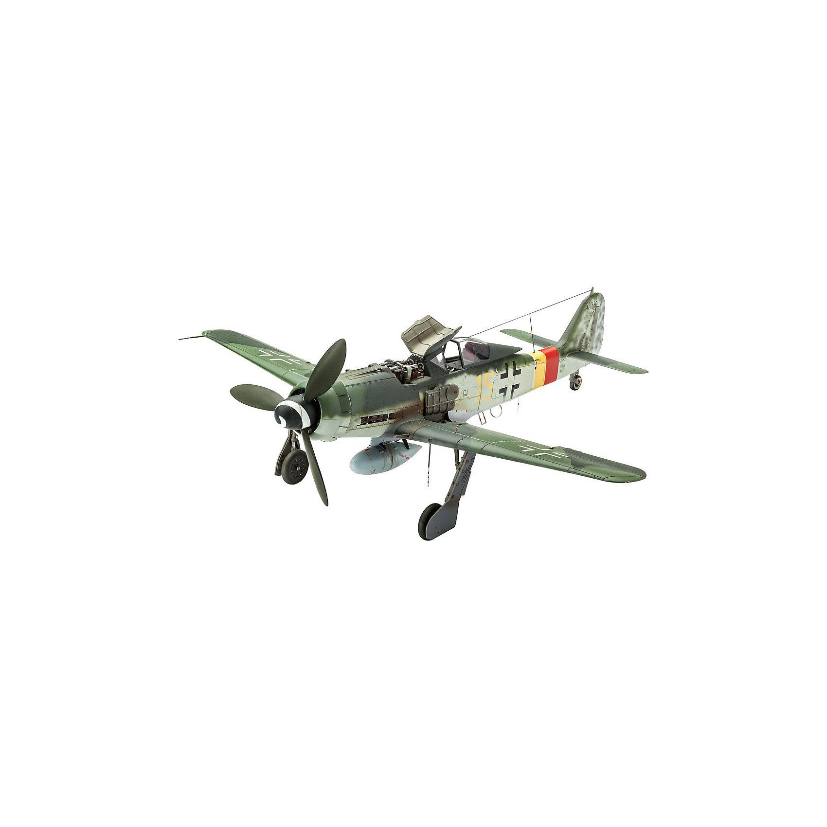 Немецкий истребитель Focke Wulf Fw 190 D-9Модели для склеивания<br>Сборная модель немецкого самолета Focke Wulf Fw 190 D-9 в масштабе 1:48. Этот истребитель использовался ВВС Германии на заключительных этапах Второй мировой войны. <br>Модель собирается из 144 деталей. Длина модели 21,5 см, размах крыльев 20 см. <br>В наборе вы найдете декаль для следующих вариантов самолета: <br>- Focke Wulf 190 D-9, Werknr. 500666, II./JG 301, Erfurt-Nord, Май 1945 <br>- Focke Wulf 190 D-9, Werknr. 210194, I./JG 2, Aachen, 1 января 1945 <br>Внимание! В комплект не входят инструменты и расходные материалы (краски и клей). Они приобретаются отдельно. <br>Для взрослых моделистов и детей от 14 лет.<br><br>Ширина мм: 9999<br>Глубина мм: 9999<br>Высота мм: 9999<br>Вес г: 9999<br>Возраст от месяцев: 168<br>Возраст до месяцев: 2147483647<br>Пол: Мужской<br>Возраст: Детский<br>SKU: 7122368