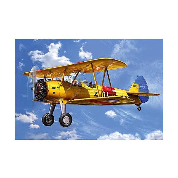 Самолет Биплан Стирмен PT-13D Kaydet, американскийМодели для склеивания<br>Самолет Биплан Стирмен PT-13D Kaydet был построен авиастоительная корпорация Стирман(после 1934 года - Боинг). Модель Стирмен PT-13D Kaydet была разработана специально для нужд ВВС США. Мощность двигателя равнялась 163 кВ и самолет мог развивать скорость до 200 км/ч. <br>Масштаб: 1:72 <br>Количество деталей: 29 <br>Длина: 105 мм <br>Размах крыльев: 132 мм <br>Клей и краски в комплект не входят<br><br>Ширина мм: 207<br>Глубина мм: 132<br>Высота мм: 34<br>Вес г: 80<br>Возраст от месяцев: 120<br>Возраст до месяцев: 2147483647<br>Пол: Мужской<br>Возраст: Детский<br>SKU: 7122373
