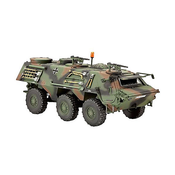 Бронетранспортёр 1 Лиса, немецкийВоенная техника и панорама<br>Сборная модель немецкого БТР TPz 1 Fuchs. Машина предназначения для использования в мотострелковых подразделениях Бундесвера. Бронетранспортёр был принят на вооружение в1979 году. В  2008 году 67 машин TPz 1 Fuchs оставались на вооружении германского контингента международных сил безопасности в Афганистане. <br>Масштаб: 1:72 <br>Количество деталей: 148 <br>Длина модели: 95 мм <br>Подойдет для детей старше 10-и лет <br>Клей и базовые краски в комплекте.<br>Ширина мм: 243; Глубина мм: 158; Высота мм: 36; Вес г: 150; Возраст от месяцев: 120; Возраст до месяцев: 2147483647; Пол: Мужской; Возраст: Детский; SKU: 7122378;
