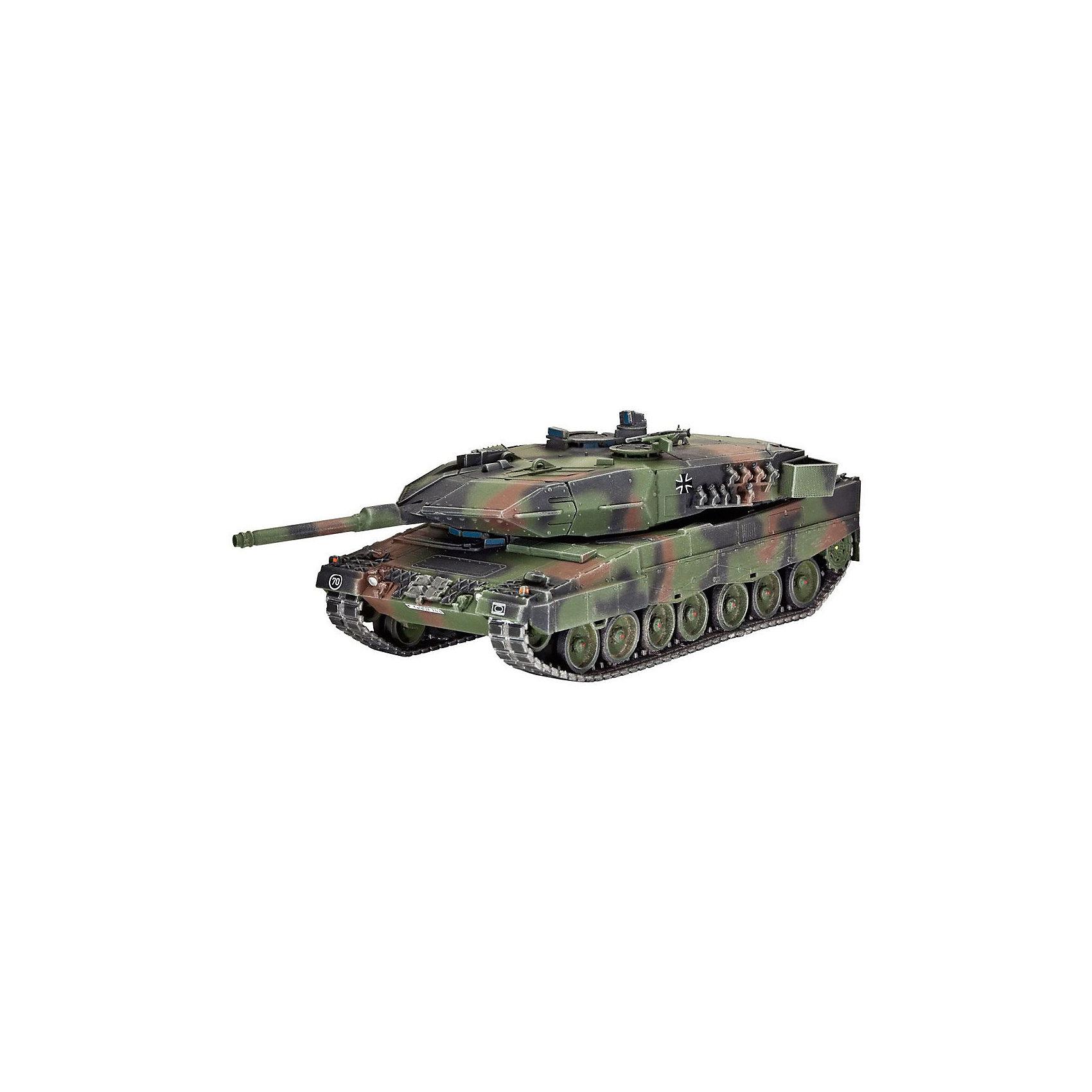 Танк Леопард 2A5 / A5NLМодели для склеивания<br>Сборная модель современного немецкого танка Леопард 2A5/A5NL. На данный момент Леопард 2 является основным боевым танком в армии Германии, а также в армиях ряда стран Европы. Танк создан по классической компоновке. Вооружение машины состоит из 120-мм гладкоствольной пушки  и двух пулеметов калибром 7,62.  Модификация 2A5/A5NL создана специально для армии Нидерландов. Эта модель получила новый люк для механика-водителя, существенно измененную башню и новую систему наведения орудия. Все эти изменения привели к увеличению массы танка до 62 тонн <br>Масштаб: 1:72 <br>Количество деталей: 180 <br>Длина модели: 134 мм <br>Уровень сложности: 4 <br>Все расходные материалы приобретаются отдельно<br><br>Ширина мм: 9999<br>Глубина мм: 9999<br>Высота мм: 9999<br>Вес г: 9999<br>Возраст от месяцев: 120<br>Возраст до месяцев: 2147483647<br>Пол: Мужской<br>Возраст: Детский<br>SKU: 7122379