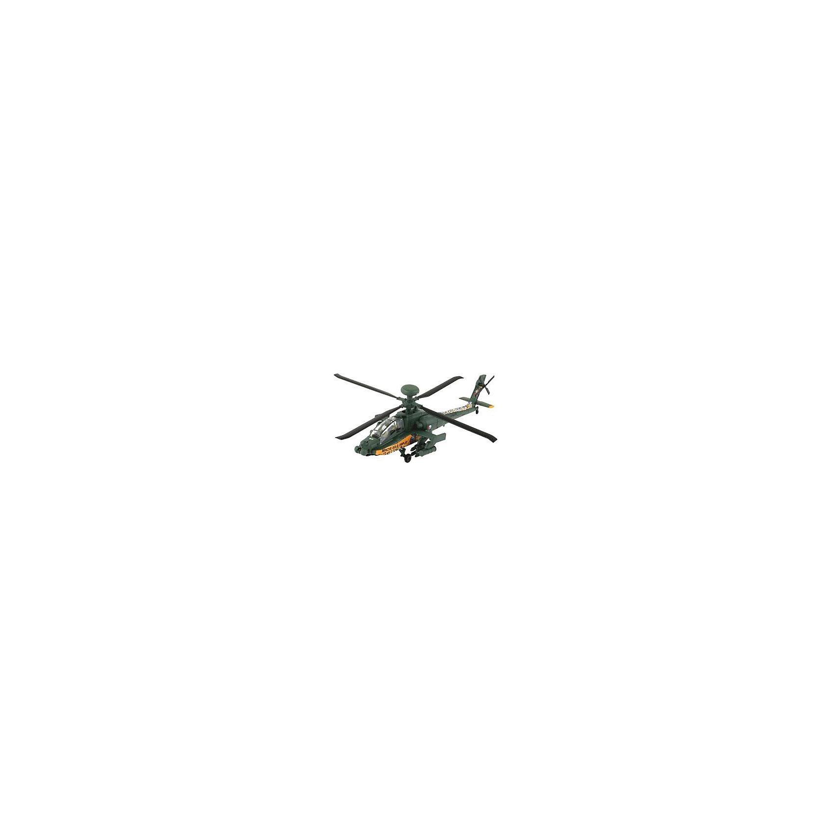 Сборка Боевой Вертолет AH-64 ApacheМодели для склеивания<br>Сборная модель вертолета AH-64 Apache отлично подойдет всем новичкам. Детали модели выполнены из пластика и уже покрашены. Для сборки клей и краски вам не понадобятся. Детали скрепляются при помощи специальных зажимов.  Из инструментов вам понадобятся только кусачки для того чтобы отделить детали от литников. <br>Сейчас AH-64D считается самым современным и мощным вертолетом ВВС США. Машина активно использовалась во время конфликтов последних лет, в которых участвовали вооруженные силы НАТО.  <br>Масштаб: 1:100 <br> Количество деталей: 27 <br>Длина: 150 мм <br> Диаметр винта: 146 мм <br>Рекомендуется для детей от 6 лет.<br><br>Ширина мм: 9999<br>Глубина мм: 9999<br>Высота мм: 9999<br>Вес г: 9999<br>Возраст от месяцев: 72<br>Возраст до месяцев: 2147483647<br>Пол: Мужской<br>Возраст: Детский<br>SKU: 7122380