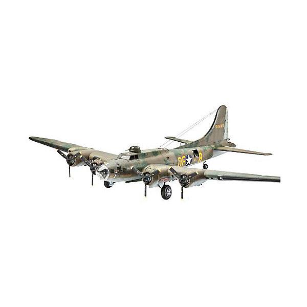 """Самолет B-17F Memphis Belle, ВВС СШАСамолеты и вертолеты<br>B-17 – американский тяжелый бомбардировщик. Этот самолет, прозванный """"Летающей крепостью"""", стал первым серийным цельнометаллическим бомбардировщиком ВВС США.  В СССР самолет не поставлялся, однако к концу войны советские летчики использовали около 20 B-17. Все они были восстановлены из 70 самолетов, которые ранее совершили вынужденную посадку на территории СССР. В наших ВВС бомбардировщики B-17 по прямому назначению не использовались. <br>Масштаб: 1:72 <br>Количество деталей:235 <br>Длина модели: 325 мм <br>Размах крыльев: 440 мм <br>Уровень сложности: 5 <br>Краски и клей в комплект не входят.<br><br>Ширина мм: 437<br>Глубина мм: 248<br>Высота мм: 112<br>Вес г: 670<br>Возраст от месяцев: 156<br>Возраст до месяцев: 2147483647<br>Пол: Мужской<br>Возраст: Детский<br>SKU: 7122381"""