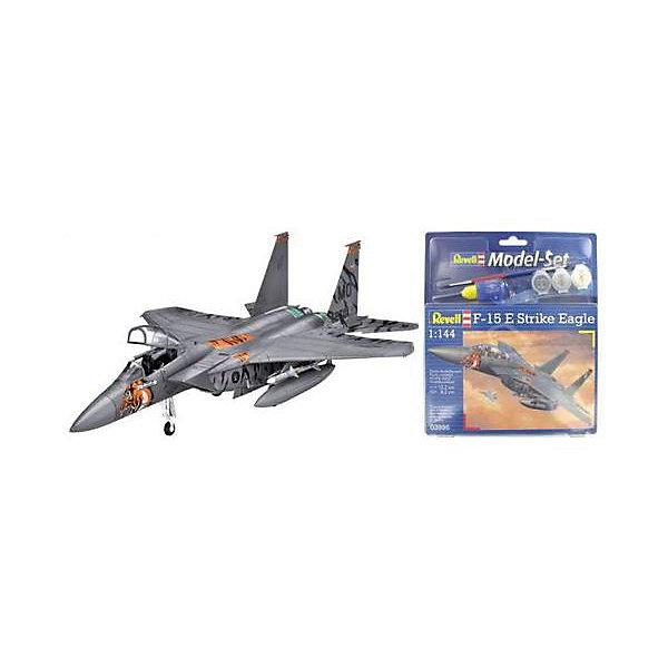 Набор Самолет Макдоннелл-Дуглас F-15E «Страйк Игл»Самолеты и вертолеты<br>Подарочный набор со сборной моделью американского истребителя F-15E Strike Eagle. В наборе модель, акриловые краски, клей и кисточка.  <br>F-15E Strike Eagle — американский двухместный истребитель-бомбардировщик четвертого поколения. Самолет был создан на базе F-15. Всего было выпущено около 350 самолетов. F-15E активно применялся во время боевых действий в Ираке, Афганистане и Ливии. В ходе боев было потеряно шесть самолетов. <br>Масштаб: 1:144 <br>Количество деталей: 62 <br>Длина модели: 132 мм <br>Размах крыльев: 82 мм <br>Уровень сложности: 3<br><br>Ширина мм: 270<br>Глубина мм: 230<br>Высота мм: 33<br>Вес г: 210<br>Возраст от месяцев: 120<br>Возраст до месяцев: 2147483647<br>Пол: Мужской<br>Возраст: Детский<br>SKU: 7122382