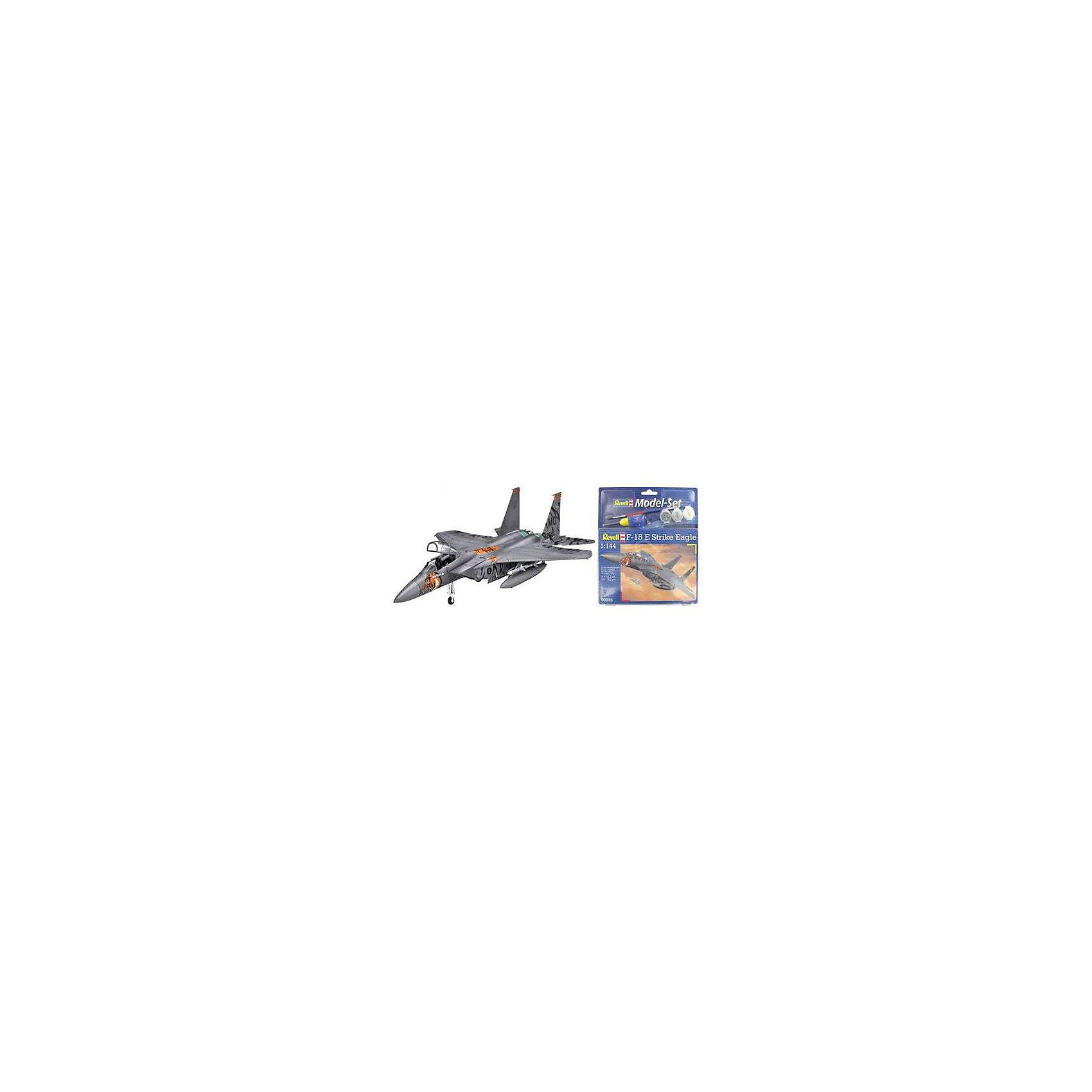Набор Самолет Макдоннелл-Дуглас F-15E «Страйк Игл»Модели для склеивания<br>Подарочный набор со сборной моделью американского истребителя F-15E Strike Eagle. В наборе модель, акриловые краски, клей и кисточка.  <br>F-15E Strike Eagle — американский двухместный истребитель-бомбардировщик четвертого поколения. Самолет был создан на базе F-15. Всего было выпущено около 350 самолетов. F-15E активно применялся во время боевых действий в Ираке, Афганистане и Ливии. В ходе боев было потеряно шесть самолетов. <br>Масштаб: 1:144 <br>Количество деталей: 62 <br>Длина модели: 132 мм <br>Размах крыльев: 82 мм <br>Уровень сложности: 3<br><br>Ширина мм: 9999<br>Глубина мм: 9999<br>Высота мм: 9999<br>Вес г: 9999<br>Возраст от месяцев: 120<br>Возраст до месяцев: 2147483647<br>Пол: Мужской<br>Возраст: Детский<br>SKU: 7122382
