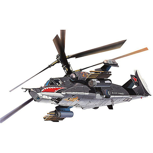"""Сборка Боевой Вертолет Черная Акула, российскийСамолеты и вертолеты<br>Сборная модель советского ударного вертолета Ка-50 """"Черная акула"""". Разработан в 1992 году. Основное предназначение вертолета – борьба с наземной бронированной техникой. Два Ка-50 применялись во время боевых действий на территории Чечни. Вертолетами было совершено 49 вылетов, во время которых было совершено более 100 стрельб с использованием неуправляемых авиационных ракет, 69 пушечных стрельб  и три пуска противотанковых управляемых ракет «Вихрь». Все намеченные цели были уничтожены в установленные сроки. <br><br>На данный момент вертолет уже не производится. На вооружении ВВС РФ состоят 11 машин  <br><br>Масштаб модели: 1:100 <br>Длина модели: 159 мм <br>Диаметр ротора: 144 мм. <br>Количество деталей: 34 шт.<br><br>Ширина мм: 243<br>Глубина мм: 158<br>Высота мм: 42<br>Вес г: 120<br>Возраст от месяцев: 72<br>Возраст до месяцев: 2147483647<br>Пол: Мужской<br>Возраст: Детский<br>SKU: 7122383"""