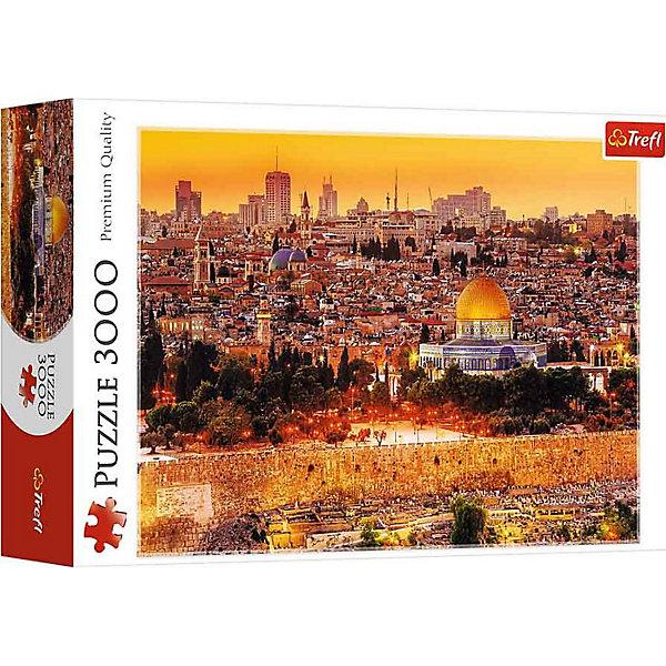 Пазлы Крыши Иерусалима, 3000 элементовПазлы классические<br>Характеристики товара:<br><br>• количество деталей: 3000 шт.;<br>• размер пазла: 116х85 см;<br>• возраст: от 14 лет;<br>• материал: картон;<br>• размер упаковки: 40х26,6х9 см;<br>• страна бренда: Польша;<br>• страна производитель: Польша.<br><br>Пазлы «Крыши Иерусалима» - прекрасный способ занять детей и взрослых на долгое время. Пазл состоит из 3000 деталей, что требует особой концентрации внимания и усидчивости. Готовая картинка с изображением прекрасного города Иерусалима видом с высоты птичьего полета станет настоящим украшением спальни или гостиной.<br><br>Все детали пазла изготовлены из высококачественных, безопасных материалов. Специальное покрытие защитит детали от деформации и обеспечит картинке долгий срок службы. Занятия с пазлами положительно влияют на развитие моторики рук, внимательности и усидчивости.<br><br>Пазлы Крыши Иерусалима, 3000 элементов, Trefl (Трефл) можно купить в нашем интернет-магазине.<br><br>Ширина мм: 266<br>Глубина мм: 398<br>Высота мм: 90<br>Вес г: 1950<br>Возраст от месяцев: 180<br>Возраст до месяцев: 2147483647<br>Пол: Унисекс<br>Возраст: Детский<br>SKU: 7126285