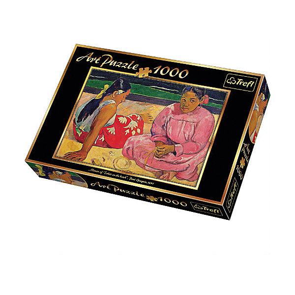 1000 -Арт пазл- Поль Гоген Таитянские женщины на пляжеПазлы классические<br>Характеристики товара:<br><br>• количество деталей: 1000 шт.;<br>• размер картинки: 68,3х48 см;<br>• возраст: от 10 лет;<br>• материал: картон;<br>• размер упаковки: 40х27х6 см;<br>• страна бренда: Польша;<br>• страна производитель: Польша.<br><br>Удивительный пазл «Таитянские женщины» понравится каждому любителю творчества Поля Гогена. Картинка станет отличным украшением интерьера любой комнаты, а процесс сборки поможет расслабиться и забыть обо всех проблемах.<br><br>В комплект входят 1000 элементов из качественных материалов с защитным покрытием. Пазлы способствуют развитию мелкой моторики, логического мышления, усидчивости и аккуратности.<br><br>1000 -Арт пазл- Поль Гоген Таитянские женщины на пляже, Trefl (Трефл) можно купить в нашем интернет-магазине.<br><br>Ширина мм: 270<br>Глубина мм: 401<br>Высота мм: 60<br>Вес г: 750<br>Возраст от месяцев: 144<br>Возраст до месяцев: 2147483647<br>Пол: Унисекс<br>Возраст: Детский<br>SKU: 7126297