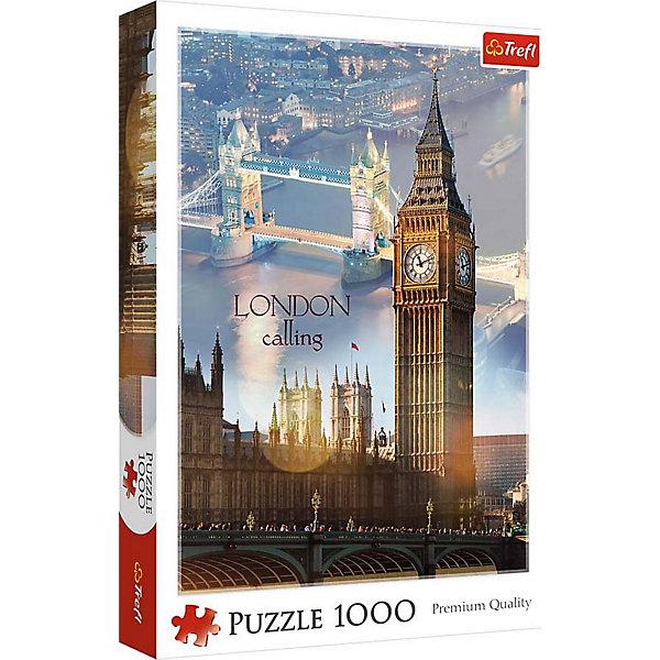 Пазлы Trefl Лондон на рассвете, 1000 деталейПазлы классические<br>Характеристики товара:<br><br>• количество деталей: 1000 шт.;<br>• размер картинки: 68х48 см;<br>• возраст: от 3 лет;<br>• материал: картон;<br>• размер упаковки: 40х27х6 см;<br>• страна бренда: Польша;<br>• страна производитель: Польша.<br><br>Пазлы «Лондон на рассвете» придутся по вкусу каждому любителю Англии. На готовой картинке размером 68х48 сантиметров изображен Биг-Бен на фоне Тауэрского моста, озаряемого лучами солнца. Такое изображение приятно украсит комнату и надолго сохранит свой вид, радуя глаз своего обладателя.<br><br>Набор состоит из 1000 элементов, благодаря чему пазлы можно собирать всей семьей. Собирание пазлов прекрасно развивает мелкую моторику, аккуратность, смекалку, память и внимательность.<br><br>Пазлы Лондон на рассвете, 1000 деталей, Trefl (Трефл) можно купить в нашем интернет-магазине.<br>Ширина мм: 400; Глубина мм: 270; Высота мм: 60; Вес г: 850; Возраст от месяцев: 168; Возраст до месяцев: 2147483647; Пол: Унисекс; Возраст: Детский; SKU: 7126314;