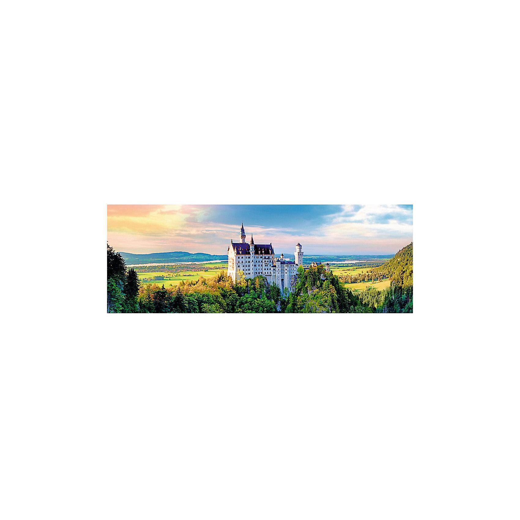 Пазлы панорамные Trefl «Замок Нойшванштайн», 1000 элементовПазлы для детей постарше<br>Очутитесь в Баварии вместе с панорамный пазлом Замок Нойшванштайн от известного бренда Trefl! Красивейший белый замок с темно-синей крышей, с его башенками и окнами, изображен на фоне гор и зелени. На переднем плане красивые изображены зеленые леса и поля, в дали видны красивые горы. Особый шарм этому шедевру придает небо с его облаками и отблесками солнца. Такой картиной вы сможете украсить стену в своем доме или на даче. Ну а если вам нужно придумать подарок для друзей этот пазл именно то, что вам нужно! <br>Детали пазла выполнены из высококачественного картона с антибликовым покрытием. <br>Изображение включает в себя 1000 элементов. <br>Рекомендуемый возраст: от 9 лет.<br><br>Ширина мм: 401<br>Глубина мм: 270<br>Высота мм: 60<br>Вес г: 750<br>Возраст от месяцев: 108<br>Возраст до месяцев: 144<br>Пол: Унисекс<br>Возраст: Детский<br>SKU: 7126324
