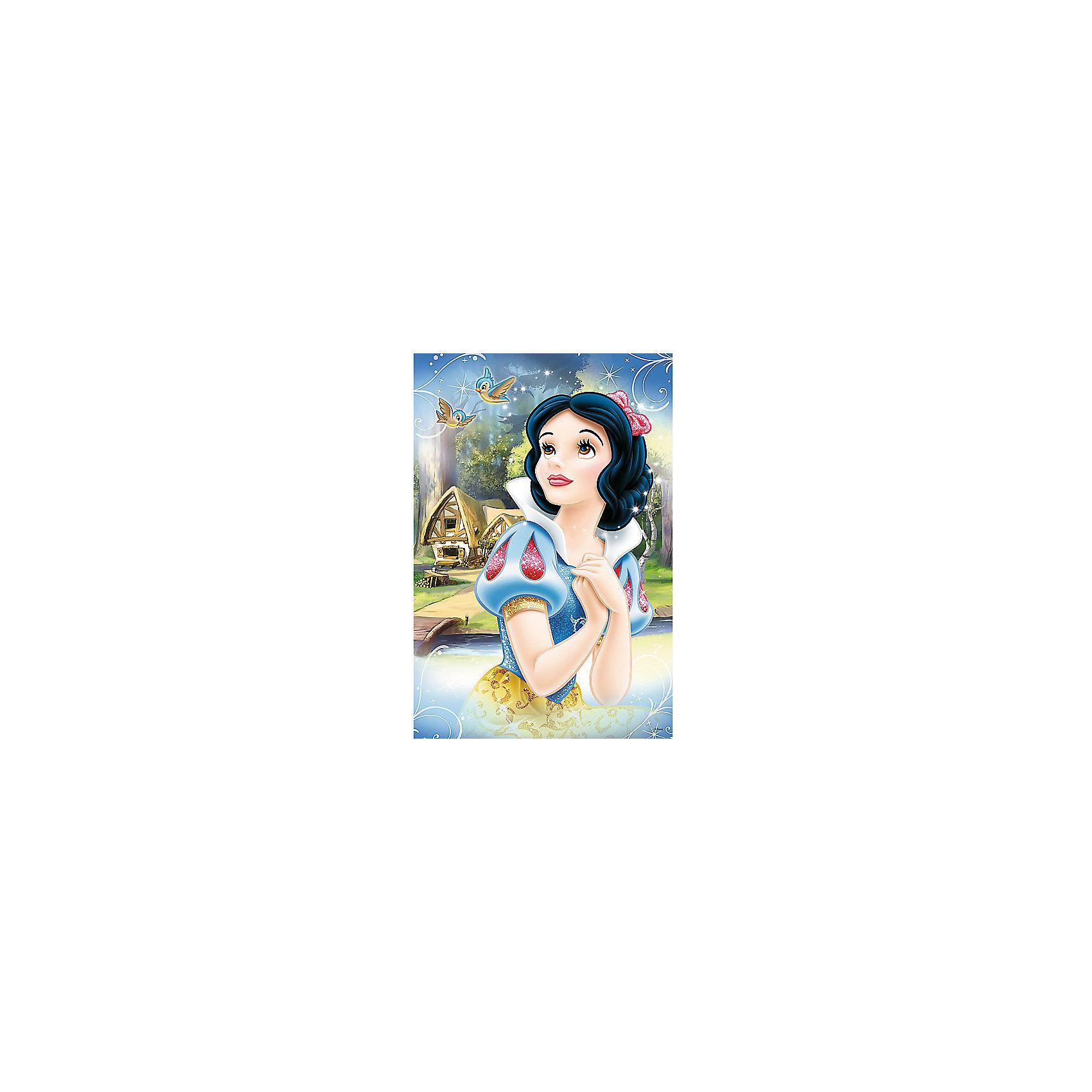 Пазлы Мечтательная Белоснежка, 24 элементаПринцессы Дисней<br>Пазлы Мечтательная Белоснежка замечательный подарок любой девочке. Яркая и красивая героиня знаменитого мультфильма Белоснежка и семь гномов поможет замечтаться и окунуться в мир мультфильма любую маленькую принцессу. Пазл прекрасная развивающая игра, которая очень полезна для памяти, а также помогает развивать мелкую моторику рук. Собрать пазлы нелегкая задача. Требуется терпение и внимательность. Ребенок сможет почувствовать связь между целым рисунком и отдельными фрагментами, фантазируя и собирая свою собственную историю о Белоснежке. <br>Все детали выполнены из плотного высококачественного картона. Картинка состоит из 24 крупных элементов. <br>Рекомендуемый возраст: от 3 лет.<br><br>Ширина мм: 398<br>Глубина мм: 45<br>Высота мм: 266<br>Вес г: 700<br>Возраст от месяцев: 36<br>Возраст до месяцев: 120<br>Пол: Женский<br>Возраст: Детский<br>SKU: 7126328