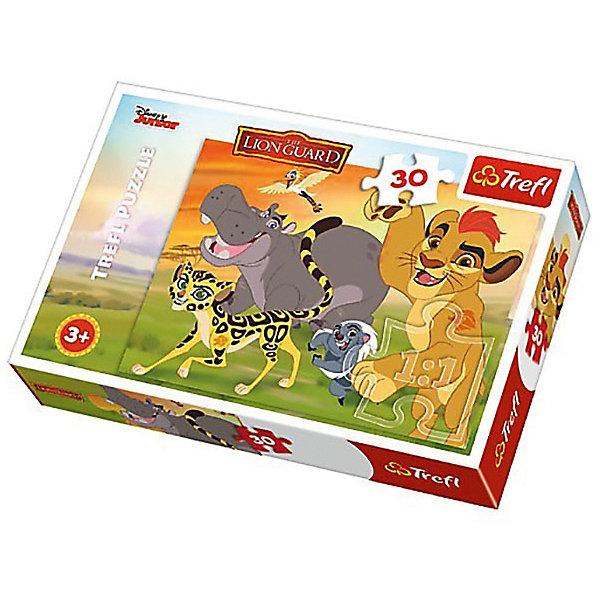 Пазл Дисней «Король Лев», 30 элементовПазлы для малышей<br>Характеристики товара:<br><br>• количество деталей: 50 шт.;<br>• размер картинки: 27х20 см;<br>• возраст: от 3 лет;<br>• материал: картон;<br>• размер упаковки: 21х15х4 см;<br>• страна бренда: Польша;<br>• страна производитель: Польша.<br><br>Пазл «Король Лев» поможет ребенку окунуться в сказку вместе с любимыми персонажа известного мультфильма. На картинке изображены главные герои истории: Симба, бегемотик и многие другие. Такая картинка отлично украсит комнату ребенка и всегда будет радовать глаз.<br><br>Пазл состоит из 30 крупных элементов, изготовленных из качественного картона, безопасного для детей. Процесс собирания пазлов прекрасно развивает мелкую моторику, внимательность, аккуратность, усидчивость и смекалку.<br><br>Пазл Дисней «Король Лев», 30 элементов, Trefl (Трефл) можно купить в нашем интернет-магазине.<br><br>Ширина мм: 213<br>Глубина мм: 40<br>Высота мм: 143<br>Вес г: 150<br>Возраст от месяцев: 36<br>Возраст до месяцев: 120<br>Пол: Унисекс<br>Возраст: Детский<br>SKU: 7126331