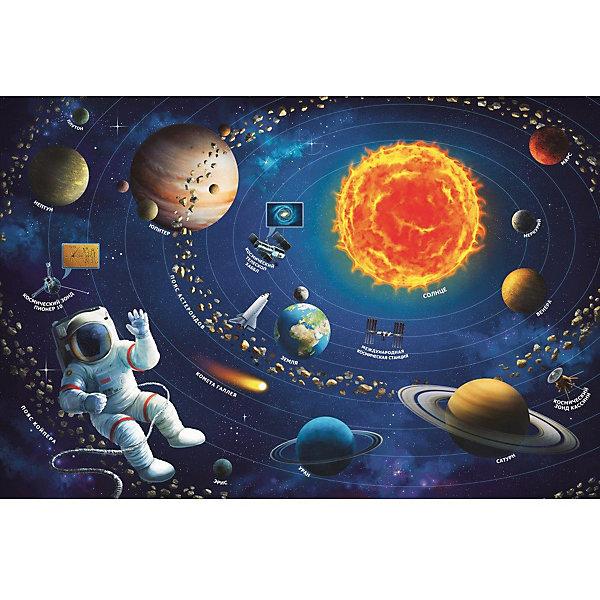 Пазлы Солнечная система, 100 деталейПазлы для малышей<br>Характеристики товара:<br><br>• количество деталей: 100 шт.;<br>• возраст: от 6 лет;<br>• материал: картон;<br>• размер упаковки: 19х28,5х4 см;<br>• страна бренда: Польша;<br>• страна производитель: Польша.<br><br>Пазлы «Солнечная система» подарят родителям возможность познакомить ребенка с планетами в игровой форме. Пока ребенок собирает пазлы, родители смогут рассказать ребенку интересные факты о планетах и других элементах Солнечной системы. А готовой картинкой можно украсить детскую комнату.<br><br>Изображение состоит из 100 элементов, изготовленных из качественного плотного картона. Процесс собирания пазлов хорошо влияет на развитие моторики рук, логического мышления. аккуратности, усидчивости и внимательности.<br><br>Пазлы Солнечная система, 100 деталей, Trefl (Трефл) можно купить в нашем интернет-магазине.<br>Ширина мм: 230; Глубина мм: 330; Высота мм: 60; Вес г: 590; Возраст от месяцев: 72; Возраст до месяцев: 144; Пол: Унисекс; Возраст: Детский; SKU: 7126335;