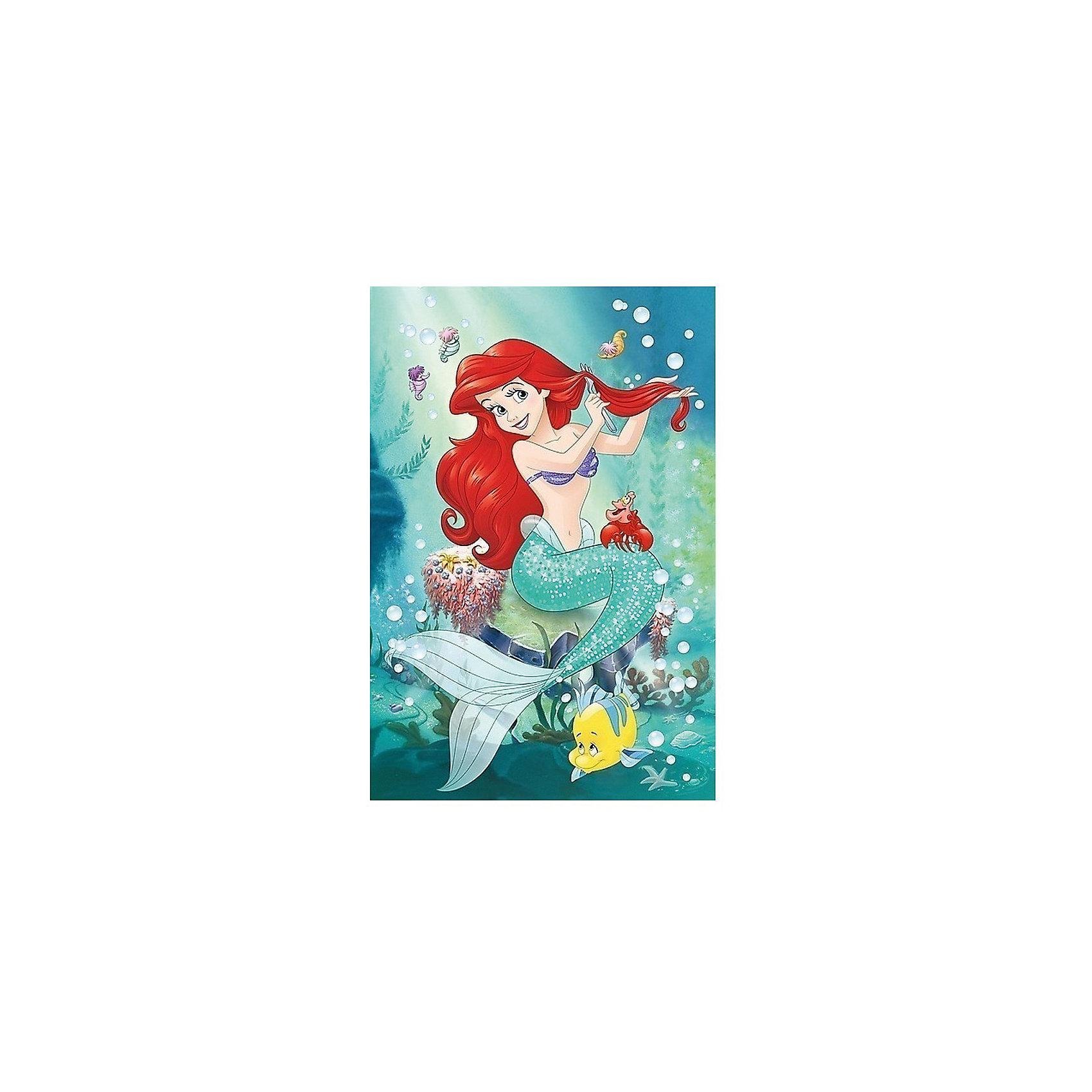 Пазлы Подводный салон красоты, 24 элементаПринцессы Дисней<br>Пазлы Trefl 14248 Подводный салон красоты, 24 элемента посвящен Русалочке. На картинке, изображена Ариэль со своими друзьями - крабом Себастьяном и рыбкой Флаундер. Морские обитатели создали импровизированный салон красоты и теперь Русалочка расчесывает волосы обычной вилкой. <br><br>Именно такую картинку получит ребенок после сборки головоломки. Во время игры с пазлом малыш сможет развить мелкую моторику рук и логическое мышление. <br><br>Пазл состоит из 24 картонных деталей. Они совершенно безопасны, но при этом очень прочны. <br><br>Рекомендуется для детей от 3 лет.<br><br>Ширина мм: 410<br>Глубина мм: 378<br>Высота мм: 266<br>Вес г: 700<br>Возраст от месяцев: 36<br>Возраст до месяцев: 120<br>Пол: Женский<br>Возраст: Детский<br>SKU: 7126337