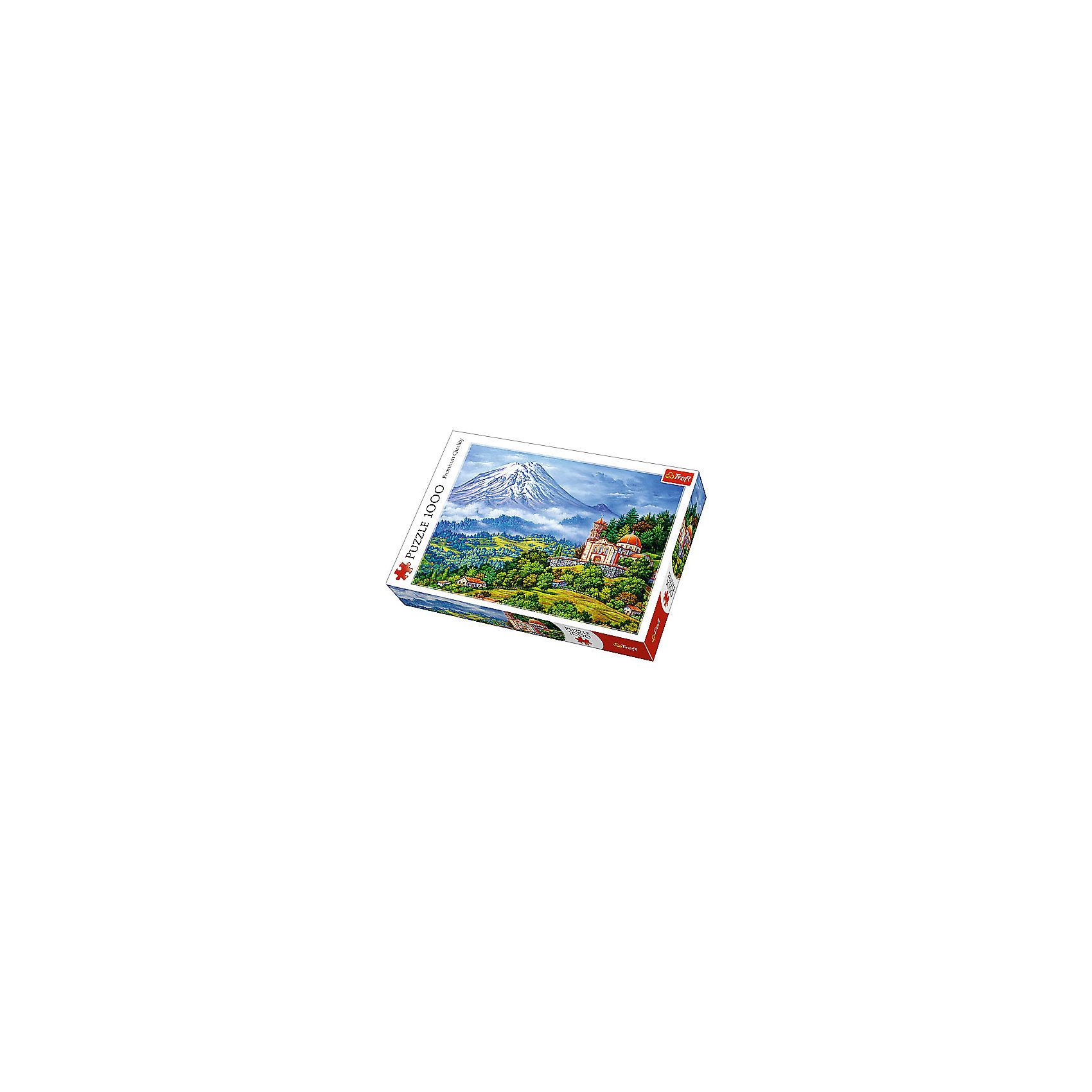 Пазлы «Пейзаж с вулканом», 1000 деталейПазлы для детей постарше<br>Перед вами пазл Trefl «Пейзаж с вулканом» из 1000 деталей. Эта сборная картина, созданная знаменитым польским брендом, выглядит по-настоящему эффектно благодаря ее невероятно насыщенным краскам. <br>Рисованное изображение маленького замка и деревушки у подножия спящего вулкана выполнено на каландрированном картоне, который отличают повышенные показатели гладкости и лоска. Другими словами, такая картина будет жизнерадостно блестеть, но – благодаря светоотражающему покрытию – не бликовать. А гладкие детали приятно перебирать при сборке. Кстати, сцепка самих элементов – на высшем уровне. <br>Количество деталей: 1000. <br>Размеры картинки в собранном виде: 68х48 см. <br>Размеры коробки: 40,1х6х27 см. <br>Вес коробки: 0,85кг. <br>Пазл предназначен для детей старше 12 лет.<br><br>Ширина мм: 410<br>Глубина мм: 378<br>Высота мм: 270<br>Вес г: 750<br>Возраст от месяцев: 144<br>Возраст до месяцев: 2147483647<br>Пол: Унисекс<br>Возраст: Детский<br>SKU: 7126343