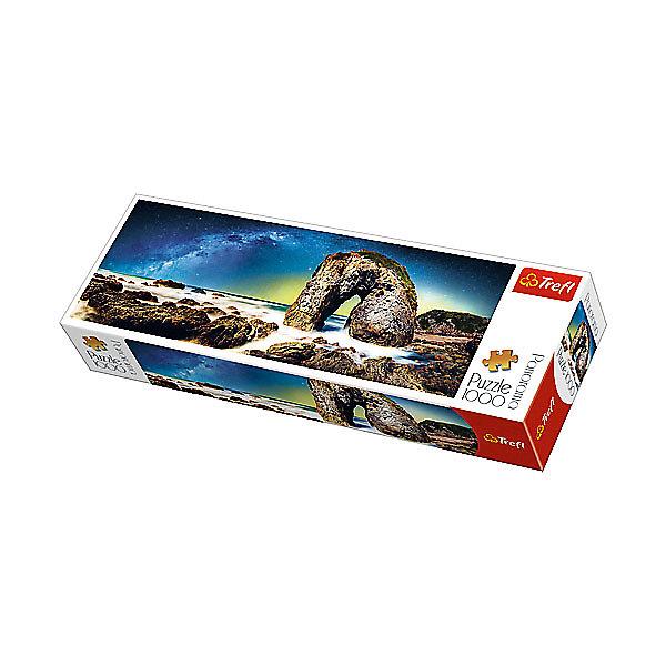 Пазлы панорамные «Млечный путь», 1000 деталейПазлы классические<br>Характеристики товара:<br><br>• количество деталей: 1000 шт.;<br>• размер картинки: 97х34 см;<br>• возраст: от 12 лет;<br>• материал: картон;<br>• размер упаковки: 40х13,5х6,5 см;<br>• страна бренда: Польша;<br>• страна производитель: Польша.<br><br>Панорамные пазлы «Млечный путь» - прекрасная возможность интересно провести время, а также украсить свою комнату. Картинка состоит из 1000 элементов. Они легко соединяются и долгое время сохраняют внешний вид благодаря высококачественным материалам. На картинке изображен загадочный и завораживающий Млечный путь, поражающий своей красотой и цветопередачей. Готовую картинку можно поставить в рамочку. Ко всему прочему, пазлы отлично развивают мелкую моторику, логическое мышление, память, координацию движений рук и концентрацию внимания.<br><br>Пазлы панорамные «Млечный путь», 1000 деталей, Trefl (Трефл) можно купить в нашем интернет-магазине.<br><br>Ширина мм: 405<br>Глубина мм: 345<br>Высота мм: 135<br>Вес г: 880<br>Возраст от месяцев: 144<br>Возраст до месяцев: 2147483647<br>Пол: Унисекс<br>Возраст: Детский<br>SKU: 7126344