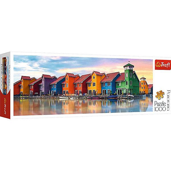 Пазлы панорамные «Гронинген, Нидерланды», 1000 деталейПазлы классические<br>Характеристики товара:<br><br>• количество деталей: 1000 шт.;<br>• размер картинки: 97х34 см;<br>• возраст: от 12 лет;<br>• материал: картон;<br>• размер упаковки: 40х13,5х6,5 см;<br>• страна бренда: Польша;<br>• страна производитель: Польша.<br><br>Панорамные пазлы «Гронинген, Нидерланды» - прекрасная возможность интересно провести время, а также украсить свою комнату. Картинка состоит из 1000 элементов. Они легко соединяются и долгое время сохраняют внешний вид благодаря высококачественным материалам. На картинке изображены разноцветные коттеджи студенческого городка, радующие яркостью своих красок. Готовую картинку можно поставить в рамочку. Ко всему прочему, пазлы отлично развивают мелкую моторику, логическое мышление, память, координацию движений рук и концентрацию внимания.<br><br>Пазлы панорамные «Гронинген, Нидерланды», 1000 деталей, Trefl (Трефл) можно купить в нашем интернет-магазине.<br><br>Ширина мм: 405<br>Глубина мм: 345<br>Высота мм: 135<br>Вес г: 880<br>Возраст от месяцев: 144<br>Возраст до месяцев: 2147483647<br>Пол: Унисекс<br>Возраст: Детский<br>SKU: 7126346
