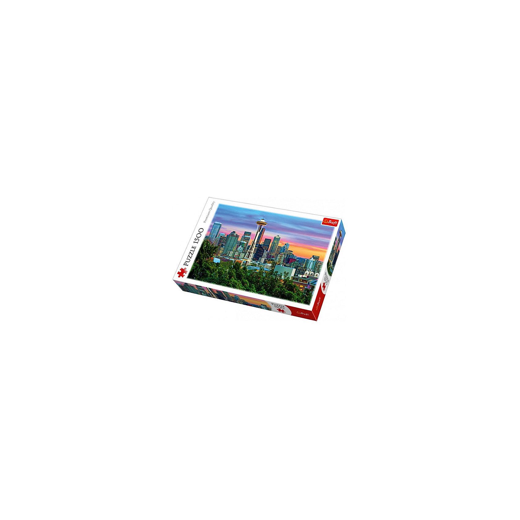 Пазлы «Спейс Нидл, Сиэтл, США», 1500 деталейПазлы для детей постарше<br>Новинка 2016 года от Trefl – пазл «Космическая игла, Сиэтл, США». Из 1500 деталей вам предстоит собрать один из самых узнаваемых небоскребов в мире – футуристичный Спейс-Нидл. <br>Вечерний вид на мегаполис и «Космическую иглу» в собранном виде будет смотреться эффектно благодаря максимально ярким краскам Trefl. А антибликовое покрытие позволит собирать пазл и любоваться им при любом освещении. Кстати, выполнены детали головоломки из специального каландрированного картона. Это означает, что они имеют утолщенную форму и приятный лоск, а также являются гладкими на ощупь.<br>Количество деталей: 1500. <br>Размеры картинки в собранном виде: 85х58 см. <br>Размеры коробки: 40,1х27х6 см. <br>Вес коробки: 1,05 кг. <br>Пазл предназначен для детей старше 12 лет.<br><br>Ширина мм: 410<br>Глубина мм: 378<br>Высота мм: 270<br>Вес г: 980<br>Возраст от месяцев: 144<br>Возраст до месяцев: 2147483647<br>Пол: Унисекс<br>Возраст: Детский<br>SKU: 7126348