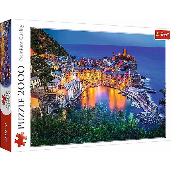 Пазлы «Верназза в сумерках», 2000 деталейПазлы для детей постарше<br>Характеристики товара:<br><br>• количество деталей: 2000 шт.;<br>• размер картинки: 96х68 см;<br>• возраст: от 15 лет;<br>• материал: картон;<br>• размер упаковки: 40,1х27х6 см;<br>• страна бренда: Польша;<br>• страна производитель: Польша.<br><br>Пазлы «Верназза в сумерках» станут прекрасным подарком для любителей головоломок. Четкое изображение небольшого городка в Лигурийском море, выполненное в ярких цветах - отличное украшение любой комнаты в доме. Размер картинки - 96х68 сантиметров.<br><br>Пазл состоит из 2000 элементов, выполненных из плотного картона с антибликовым покрытием. Во время собрания пазлов развиваются мелкая моторика, логическое мышление, координация движений рук, внимательность.<br><br>Пазлы «Верназза в сумерках», 2000 деталей, Trefl (Трефл) можно купить в нашем интернет-магазине.<br><br>Ширина мм: 410<br>Глубина мм: 378<br>Высота мм: 270<br>Вес г: 1210<br>Возраст от месяцев: 180<br>Возраст до месяцев: 2147483647<br>Пол: Унисекс<br>Возраст: Детский<br>SKU: 7126358