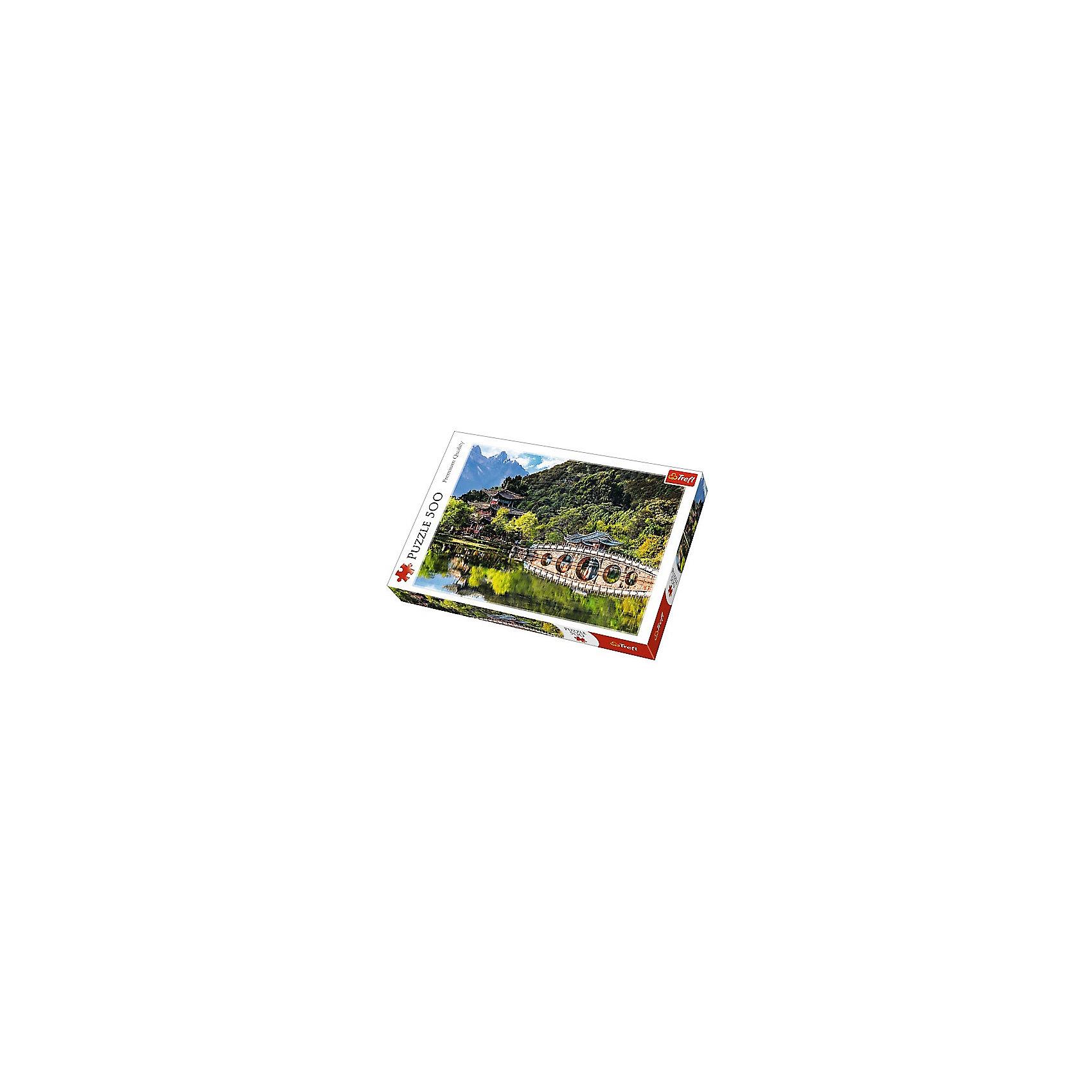 Пазлы «Бассейн Черного дракона, Лицзян, Китай», 500 деталейПазлы для детей постарше<br>Пазл «Пруд Черного дракона» на 200 деталей от Trefl - медитативный и экзотический вид на одну из популярных достопримечательностей Китая. Пагоды, изогнутый мостик, горы и свежая зелень, чей оттенок, колеблющийся от серо-зеленого до салатового, великолепно передан с помощью максимально насыщенных фирменных красок польского бренда. <br>Помимо эффектного внешнего вида к достоинствам пазла можно отнести крепкую сцепку элементов и антибликовое покрытие, которое позволяет собирать картину даже при направленном искусственном освещении. <br>Количество деталей: 500. <br>Размеры картинки в собранном виде: 48х34 см. <br>Размеры коробки: 39,8х26,6х4,5 см. <br>Вес коробки: 0,55 кг. <br>Пазл предназначен для детей старше 10 лет.<br><br>Ширина мм: 410<br>Глубина мм: 378<br>Высота мм: 266<br>Вес г: 500<br>Возраст от месяцев: 120<br>Возраст до месяцев: 2147483647<br>Пол: Унисекс<br>Возраст: Детский<br>SKU: 7126361
