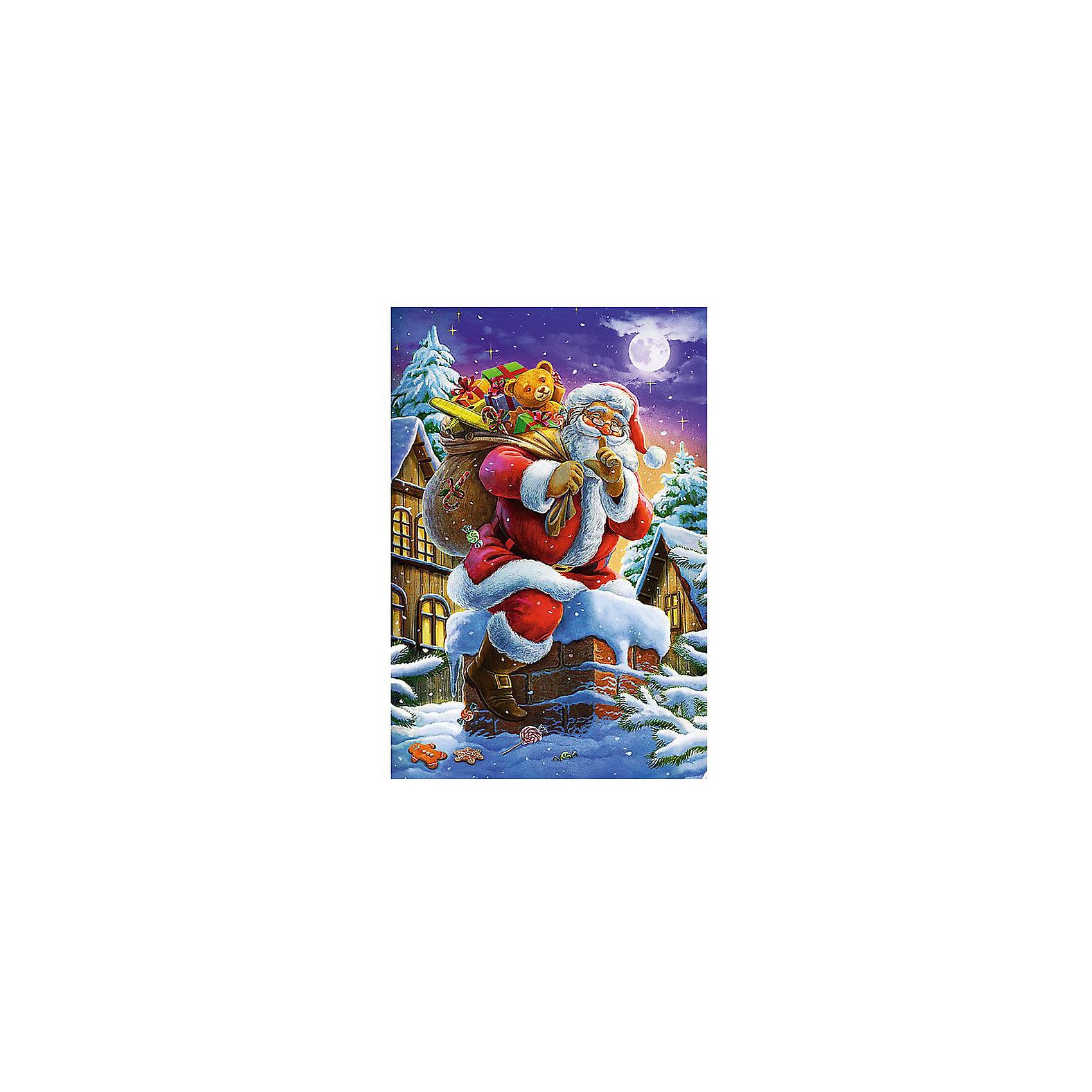 Пазлы  Санта Клаус, 160 элементовПазлы для детей постарше<br>Пусть главным символом Нового года для нашей страны является Дед Мороз. Но далеко не каждый современный ребенок откажется от большого изображения Санта Клауса на своей стене. Особенно если эту картину малыш соберет сам. <br>Пазл подарит ему такую возможность. Картинка состоит из 160 элементов. Они легко соединяются между собой. Изготовлены детали из картона. Материал очень прочен и устойчив к большинству внешних воздействий. Поэтому собранный пазл будет долго радовать глаз вас и вашего ребенка.<br>Пазл может быть рекомендовать для детей в возрасте от 6 лет и старше.<br><br>Ширина мм: 190<br>Глубина мм: 40<br>Высота мм: 280<br>Вес г: 320<br>Возраст от месяцев: 72<br>Возраст до месяцев: 144<br>Пол: Унисекс<br>Возраст: Детский<br>SKU: 7126368