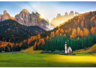 Trefl Пазлы Церковь В Доломитовых Альпах, 1500 Элементов