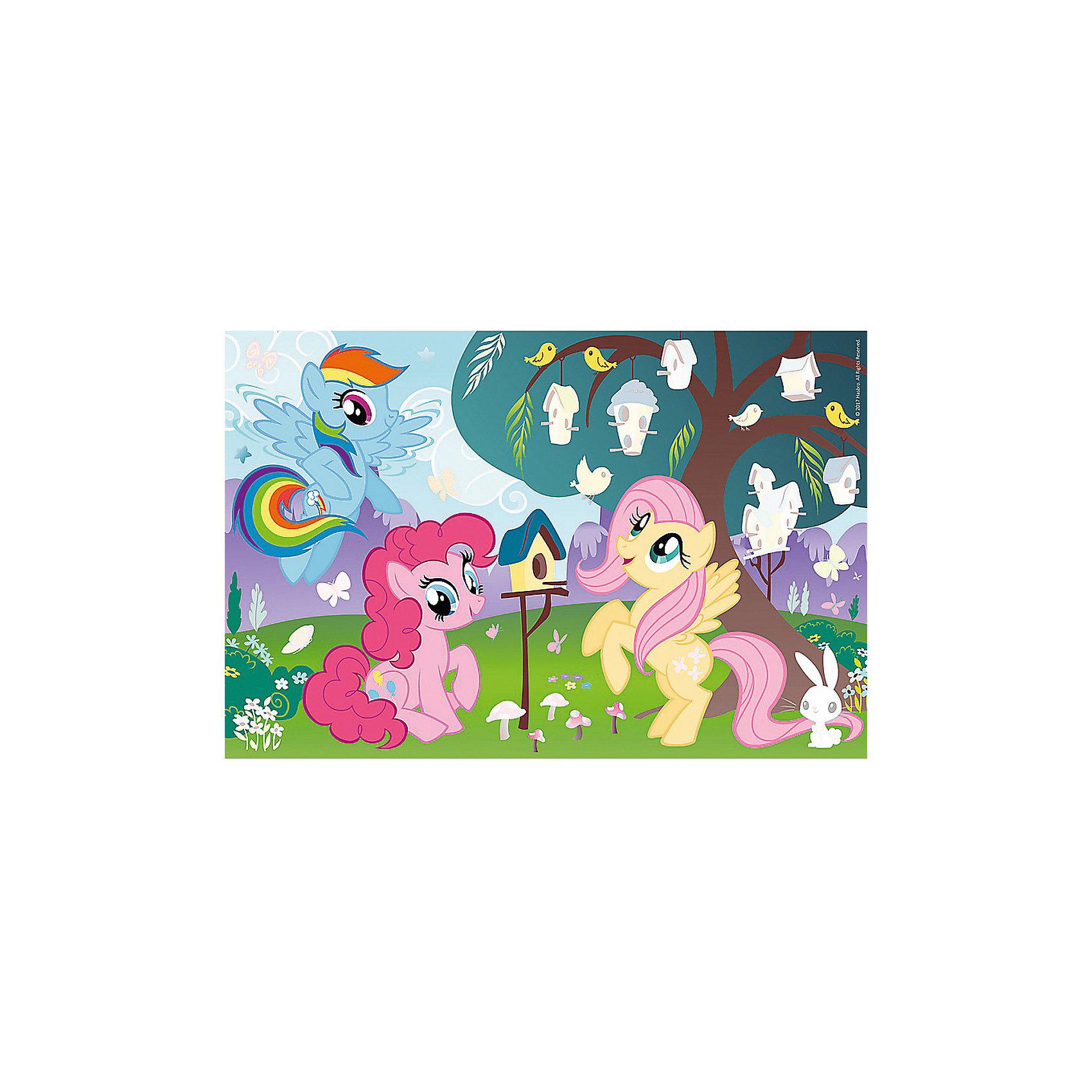 Пазлы Пони и птичье дерево , Пазл плюсMy little Pony<br>Укрась живописную полянку и птичье дерево с помощью ярких стикеров на необычном пазле от бренда Trefl! Каждый малыш будет с увлечением собирать детали головоломки, чтобы получить милую картину с любимыми пони из известного мультсериала.  Волшебные лошадки с пышными гривами гуляют под большим деревом. Чтобы полянка заиграла новыми красками, необходимо лишь наклеить стикеры с изображением птичек, бабочек, кормушек и листочков.  Занимаясь с высококачественным пазлом «Пони и птичье дерево» из 35 деталей, ребенок улучшит многие полезные навыки и получит приятные впечатления! В наборе: 35 деталей пазла, стикеры.  Размер картинки в собранном виде: 33х22 см.<br><br>Ширина мм: 332<br>Глубина мм: 37<br>Высота мм: 229<br>Вес г: 325<br>Возраст от месяцев: 36<br>Возраст до месяцев: 120<br>Пол: Женский<br>Возраст: Детский<br>SKU: 7126396