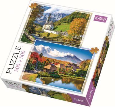 Trefl Пазлы Горный пейзаж, 500+500 элементов