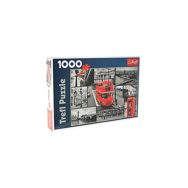 1000 дет. - Лондон-коллажПазлы классические<br>Характеристики товара:<br><br>• количество деталей: 1000 шт.;<br>• размер картинки: 68х48 см;<br>• возраст: от 12 лет;<br>,• материал: картон;<br>• размер упаковки: 40х27х6 см;<br>• страна бренда: Польша;<br>• страна производитель: Польша.<br><br>Пазлы «Лондон-коллаж» - прекрасный подарок любителям путешествий и головоломок. На картинке изображены различные картинки, знакомые каждому туристу Лондона: Биг-Бен, двухэтажный автобус, британский флаг и многое другое. Пазлы состоят из 1000 элементов, изготовленных из плотного картона с антибликовым покрытием. Детали хорошо стыкуются, не выцветают и не отсвечивают во время использования. такая картинка надолго станет украшением спальни или гостиной. Ко всему прочему, собирание пазлов поможет развить мелкую моторику, логическое мышление, внимательность и память.<br><br>1000 дет. - Лондон-коллаж, Trefl (Трефл) можно купить в нашем интернет-магазине.<br>Ширина мм: 270; Глубина мм: 401; Высота мм: 60; Вес г: 750; Возраст от месяцев: 120; Возраст до месяцев: 2147483647; Пол: Унисекс; Возраст: Детский; SKU: 7126416;