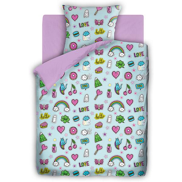 Детское постельное белье 1,5 сп. 4YOU, АппликацииДетское постельное бельё<br>Характеристики товара:<br><br>• размер:1,5-спальное<br>• в комплекте: пододеяльник 143х215 см; простынь 150х214 см; наволочка 70х70 см.<br>• материал: бязь (100% хлопок) плотность 120 гр/м2<br>• тип застежки: прорезь<br>• размер упаковки: 29х5,5х37 см.<br>• вес: 1,2 кг.<br><br>Яркий комплект постельного белья «For You Аппликации» гармонично дополнит интерьер и подарит ребенку комфортный сон. Комплект состоит из наволочки, простыни и пододеяльника. Пододеяльник и наволочка оформлены ярким рисунком. Рисунок на пододеяльнике с одной стороны. Вторая сторона пододеяльника и простыня выполнены из ткани лилового цвета.<br><br>Белье изготовлено из бязи (100 % хлопок) с применением устойчивых гипоаллергенных красителей, безопасных для кожи ребенка. Ткань приятна на ощупь, отлично впитывает влагу и хорошо пропускает воздух, позволяя коже дышать Белье, легко стирается, гладится, сохраняет яркость цвета и прочность даже после многочисленных стирок.<br><br>Комплект постельного белья 1,5 бязь FOR YOU (70*70)лиловый Аппликации можно купить в нашем интернет-магазине.<br>Ширина мм: 290; Глубина мм: 55; Высота мм: 370; Вес г: 1200; Возраст от месяцев: 48; Возраст до месяцев: 144; Пол: Унисекс; Возраст: Детский; SKU: 7126583;