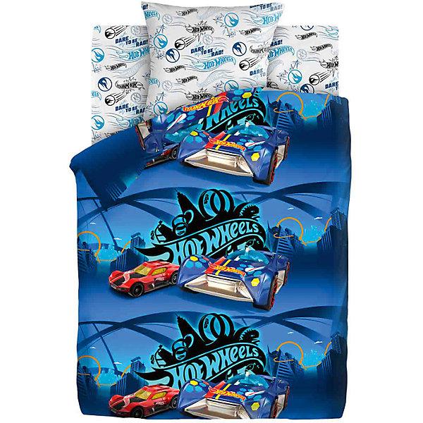 Комплект постельного белья 1.5 бязь Hot Wheels (70х70) Найт СитиДетское постельное бельё<br>Характеристики товара:<br><br>• размер:1,5-спальное<br>• в комплекте: пододеяльник 143х215 см; простынь 150х214 см; наволочка 70х70 см.<br>• материал: бязь (100% хлопок) плотность 120 гр/м2<br>• тип застежки: прорезь<br>• размер упаковки: 29х5,5х37 см.<br>• вес: 1,2 кг.<br><br>Яркий комплект постельного белья «Hot Wheels Найт Сити» гармонично дополнит интерьер и подарит ребенку комфортный сон. Комплект состоит из наволочки, простыни и пододеяльника.<br><br>Белье изготовлено из бязи (100 % хлопок) с применением устойчивых гипоаллергенных красителей, безопасных для кожи ребенка. Ткань приятна на ощупь, отлично впитывает влагу и хорошо пропускает воздух, позволяя коже дышать Белье, легко стирается, гладится, сохраняет яркость цвета и прочность даже после многочисленных стирок.<br><br>Комплект постельного белья 1.5 бязь Hot Wheels (70х70) Найт Сити можно купить в нашем интернет-магазине.<br><br>Ширина мм: 290<br>Глубина мм: 55<br>Высота мм: 370<br>Вес г: 1200<br>Цвет: синий<br>Возраст от месяцев: 48<br>Возраст до месяцев: 144<br>Пол: Унисекс<br>Возраст: Детский<br>SKU: 7126592