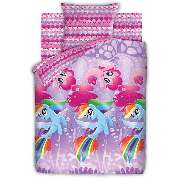 Детское постельное белье 1,5 сп. Непоседа, My Little Pony Подводные пониДетское постельное бельё<br>Характеристики товара:<br><br>• размер:1,5-спальное<br>• в комплекте: пододеяльник 143х215 см; простынь 150х214 см; наволочка 70х70 см.<br>• материал: бязь (100% хлопок)<br>• тип застежки: прорезь<br>• размер упаковки: 29х5,5х37 см.<br>• вес: 1,2 кг.<br><br>Яркий комплект постельного белья «My Little Pony Подводные пони» гармонично дополнит интерьер и подарит ребенку комфортный сон. Комплект состоит из наволочки, простыни и пододеяльника. Верхняя сторона пододеяльника оформлена ярким рисунком с изображением маленьких пони. Дизайн наволочки, простыни и внутренней стороны пододеяльника гармонично дополняет основной рисунок.<br><br>Белье изготовлено из бязи (100 % хлопок) с применением устойчивых гипоаллергенных красителей, безопасных для кожи ребенка. Ткань приятна на ощупь, отлично впитывает влагу и хорошо пропускает воздух, позволяя коже дышать Белье, легко стирается, гладится, сохраняет яркость цвета и прочность даже после многочисленных стирок.<br><br>Комплект постельного белья 1.5 бязь My Little Pony (70х70)  Подводные пони можно купить в нашем интернет-магазине.<br>Ширина мм: 290; Глубина мм: 55; Высота мм: 370; Вес г: 1200; Цвет: розовый; Возраст от месяцев: 48; Возраст до месяцев: 144; Пол: Унисекс; Возраст: Детский; SKU: 7126593;