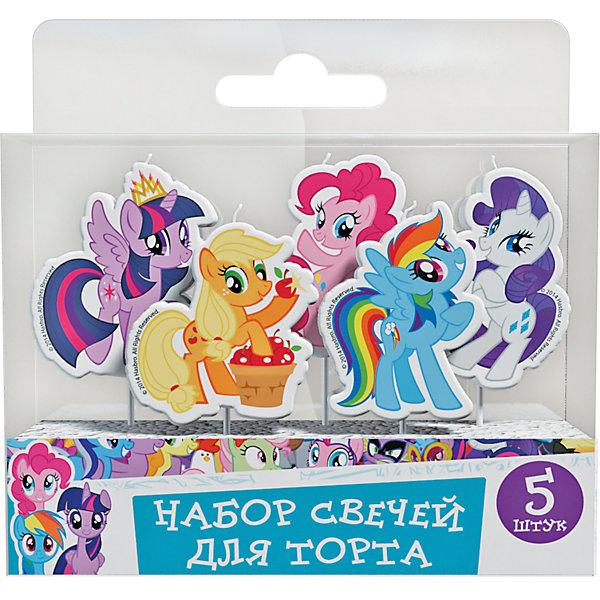 Набор свечей на палочках Росмэн My Little Pony, 5 штДетские свечи для торта<br>Характеристики:<br><br>• в комплекте: 5 шт;<br>• высота одной свечки: до 4 см;<br>• герой: My Little Pony;<br>• материал: стеорин;<br>• вес: 30 г.;<br>• для детей в возрасте: от 3 лет;<br>• страна производитель: Китай.<br><br>Набор фигурных свечей «Мой маленький пони» бренда «Росмэн» состоит из пяти фигурок сделанных из стеорина с пластиковыми держателями. Забавные меленькие лошадки отлично подойдут для поздравления как мальчиков, так и девочек.<br><br>Праздничный торт для малышей - это самый яркий подарок. Весёлые яркие огоньки станут незабываемыми для ребёнка, а задувание свечей превратится в забавную игру. Такие упражнения принесут и практическую пользу, помогут детям осваивать дыхательную гимнастику, что способствует гармоничному физическому и умственному развитию. Эти упражнения полезно проводить и в простые дни.<br><br>Набор свечей на палочках «Мой маленький пони» можно купить в нашем интернет-магазине.<br>Ширина мм: 100; Глубина мм: 60; Высота мм: 10; Вес г: 30; Возраст от месяцев: 36; Возраст до месяцев: 2147483647; Пол: Женский; Возраст: Детский; SKU: 7127428;