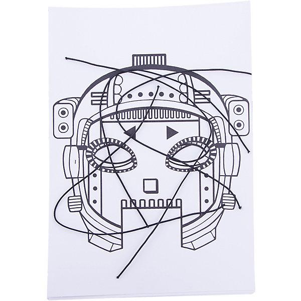 Набор игровой для творчества Мила и Феля - Маски-раскраски - РоботыДетские карнавальные маски<br>Характеристики:<br><br>• возраст: от 3 лет<br>• в наборе: детали для создания 4 масок, 4 резинки<br>• материал: картон<br>• размер упаковки: 21х29,7 см.<br><br>«Маски-раскраски – Роботы» - это набор для создания своими руками необычных масок. Для работы дополнительно потребуется: ножницы, цветные карандаши или фломастеры и хорошее настроение.<br><br>Набор для творчества «Маски-раскраски» позволит малышу фантазировать, творить, создавать, а родителям - познать внутренний мир своего ребенка.<br><br>Набор игровой для творчества «Мила и Феля - Маски-раскраски – Роботы» можно купить в нашем интернет-магазине.<br>Ширина мм: 210; Глубина мм: 297; Высота мм: 2; Вес г: 70; Возраст от месяцев: 36; Возраст до месяцев: 2147483647; Пол: Унисекс; Возраст: Детский; SKU: 7127563;
