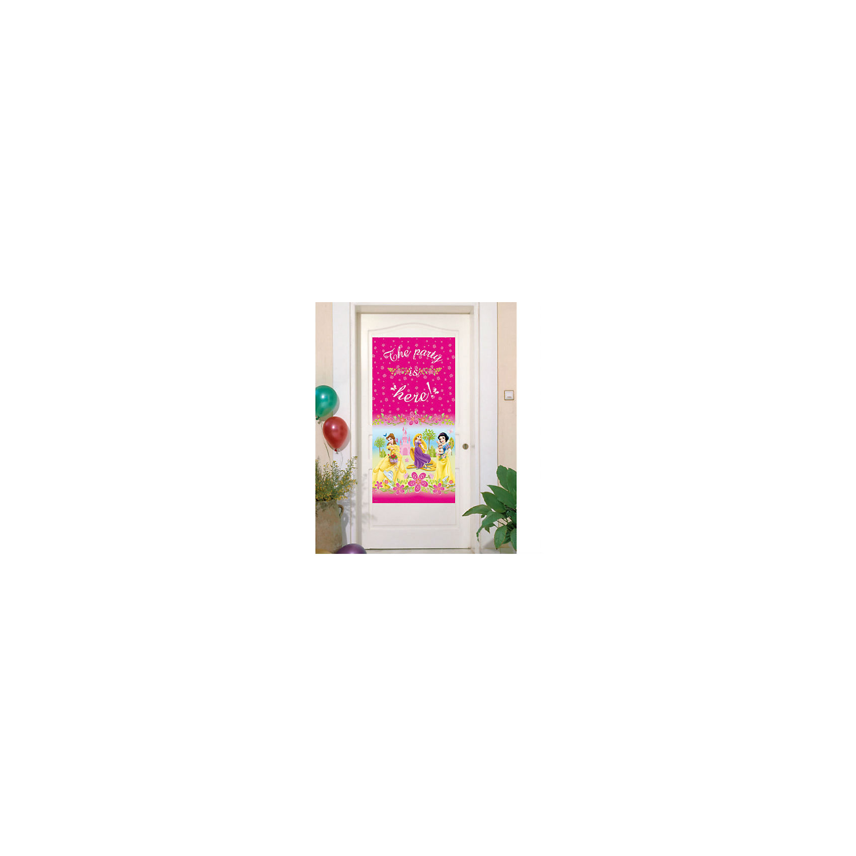 Баннер на дверь Принцессы Disney - Летний замокБаннеры и гирлянды для детской вечеринки<br>Принцессы Дисней – любимые героини мультфильмов: Аврора, Белль. Рапунцель и Белоснежка будут встречать Ваших гостей.  <br>Баннер с принцессами украсит дверь в комнату именинницы и создаст праздничное настроение гостям.  <br><br>В набор входит 1 баннер.<br><br>Ширина мм: 4<br>Глубина мм: 175<br>Высота мм: 287<br>Вес г: 10<br>Возраст от месяцев: -2147483648<br>Возраст до месяцев: 2147483647<br>Пол: Женский<br>Возраст: Детский<br>SKU: 7128892