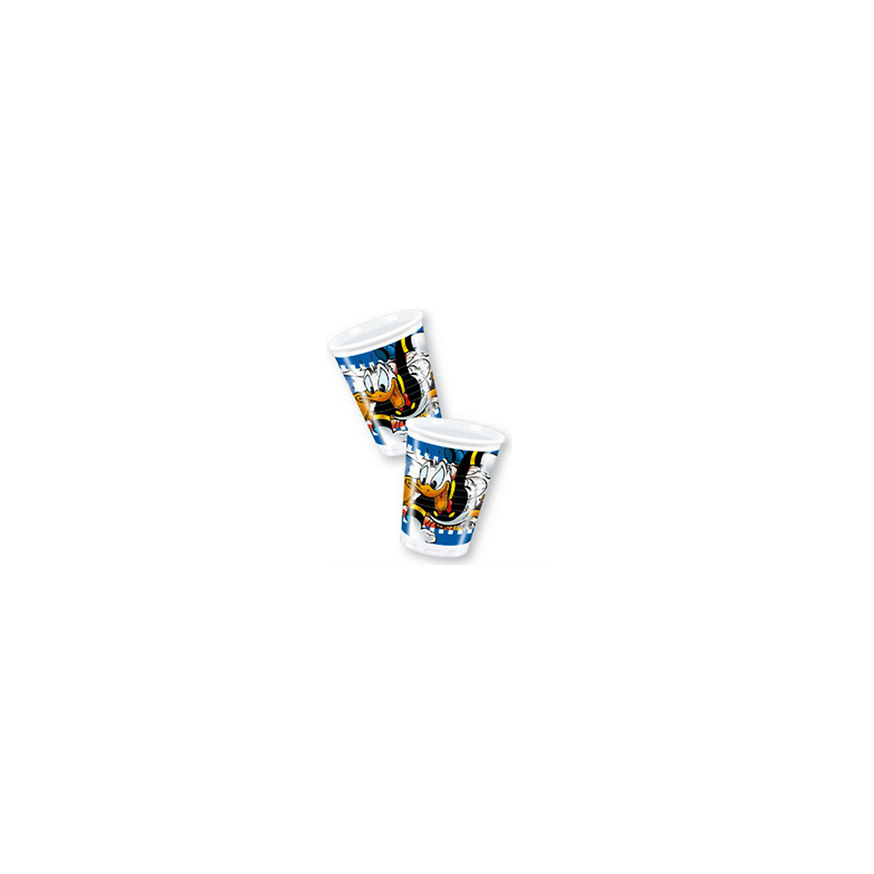 Стаканы пластиковые Дональд Дак - Утиные истории 180 мл, 8 шт.Стаканы<br>На празднике для мальчиков сервируйте стол стаканчиками с мультяшными героями, которых знают все.  <br>Рисунок из мультфильма «Дональд Дак – Утиные истории» заставит детей улыбаться.  <br>Стаканчики для праздника выполнены из пищевого пластика и отличаются высоким качеством исполнения.  <br>В набор входит 8 стаканчиков.<br><br>Ширина мм: 125<br>Глубина мм: 70<br>Высота мм: 46<br>Вес г: 30<br>Возраст от месяцев: 36<br>Возраст до месяцев: 2147483647<br>Пол: Унисекс<br>Возраст: Детский<br>SKU: 7128893
