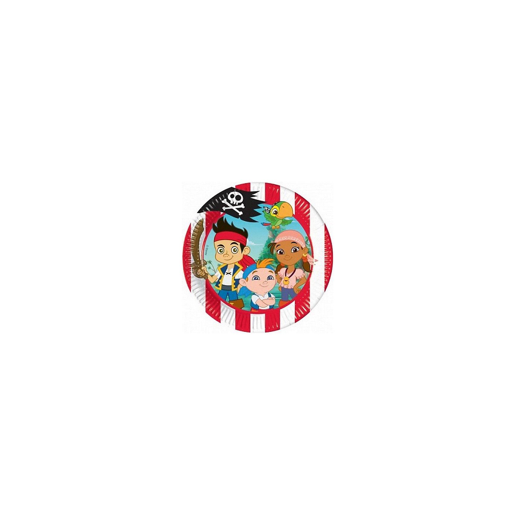 Тарелки Джейк и пираты Нетландии 20 см, 10 шт.Тарелки<br>Отличным украшением любого праздничного стола станут тарелки с рисунком Джека и других пиратов Нетландии.  <br>В комплект входит 10 тарелок диаметром 20 см.<br><br>Ширина мм: 195<br>Глубина мм: 20<br>Высота мм: 195<br>Вес г: 64<br>Возраст от месяцев: -2147483648<br>Возраст до месяцев: 2147483647<br>Пол: Унисекс<br>Возраст: Детский<br>SKU: 7128907