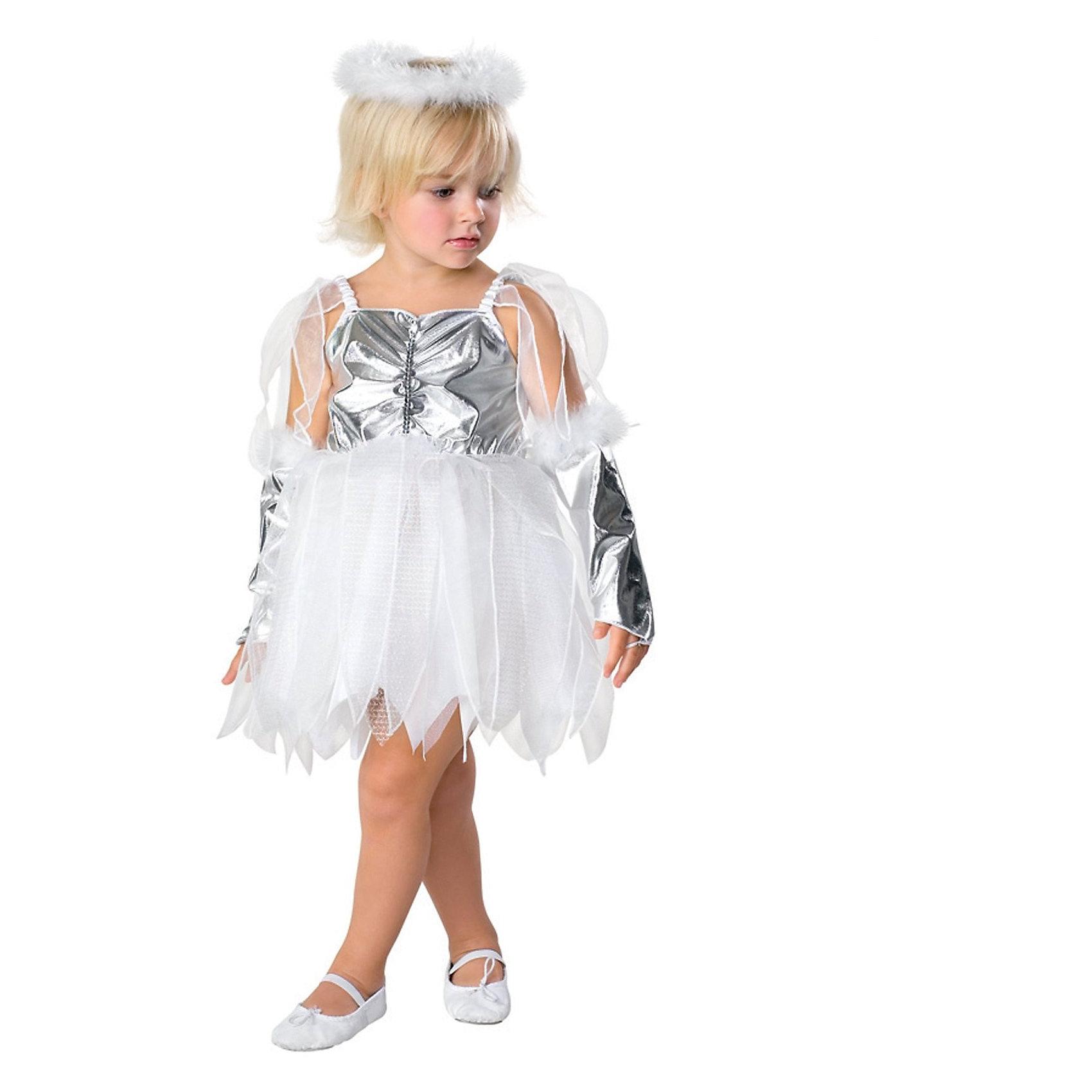 Детский маскарадный костюм Маленький ангелКарнавальные костюмы для девочек<br><br><br>Ширина мм: 260<br>Глубина мм: 400<br>Высота мм: 20<br>Вес г: 180<br>Возраст от месяцев: 48<br>Возраст до месяцев: 72<br>Пол: Унисекс<br>Возраст: Детский<br>SKU: 7128974