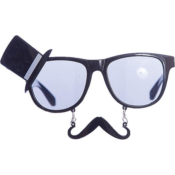 Карнавальные очки Сеньор из пластика, 75270Детские карнавальные маски<br><br>Ширина мм: 170; Глубина мм: 80; Высота мм: 30; Вес г: 40; Возраст от месяцев: 24; Возраст до месяцев: 2147483647; Пол: Унисекс; Возраст: Детский; SKU: 7128993;