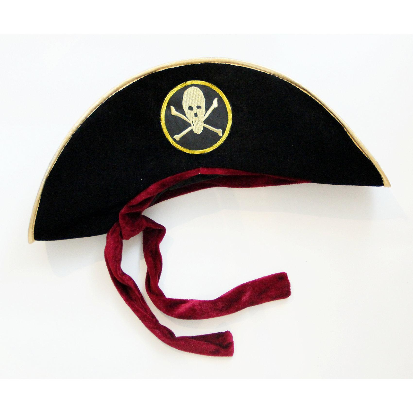 Маскарадная шляпа ПиратДетские шляпы и колпаки<br><br><br>Ширина мм: 180<br>Глубина мм: 220<br>Высота мм: 120<br>Вес г: 63<br>Возраст от месяцев: 24<br>Возраст до месяцев: 2147483647<br>Пол: Унисекс<br>Возраст: Детский<br>SKU: 7129000