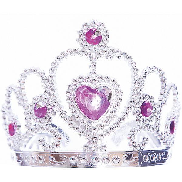 Карнавальная корона Принцесса из пластикаКарнавальные аксессуары для детей<br><br>Ширина мм: 110; Глубина мм: 120; Высота мм: 90; Вес г: 28; Возраст от месяцев: 24; Возраст до месяцев: 2147483647; Пол: Унисекс; Возраст: Детский; SKU: 7129004;