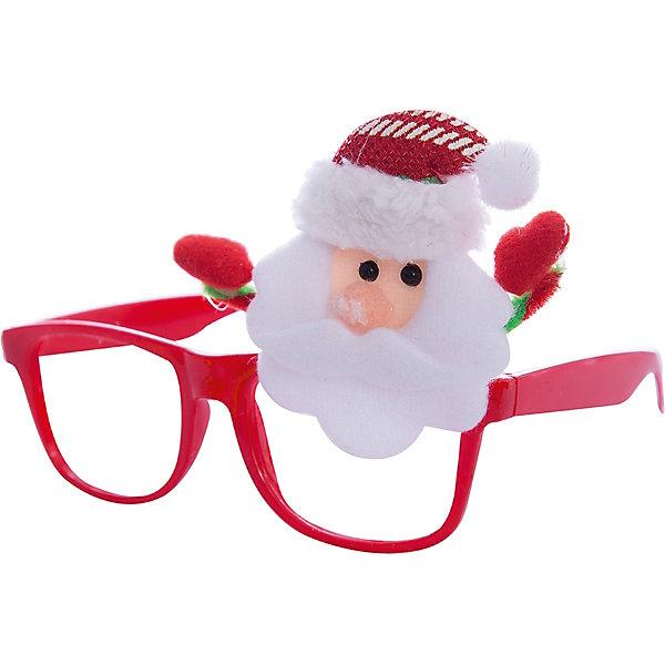 Новогодние очки Дед Мороз из полипропилена с декором из нетканого материалаНовинки Новый Год<br><br>Ширина мм: 200; Глубина мм: 160; Высота мм: 30; Вес г: 32; Возраст от месяцев: 24; Возраст до месяцев: 2147483647; Пол: Унисекс; Возраст: Детский; SKU: 7129005;