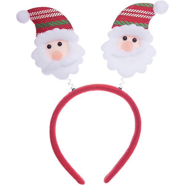 Новогоднее украшение Дед Мороз в полосатом колпаке