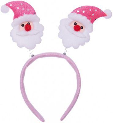 Magic Time Новогоднее украшение Дед Мороз в розовом колпаке