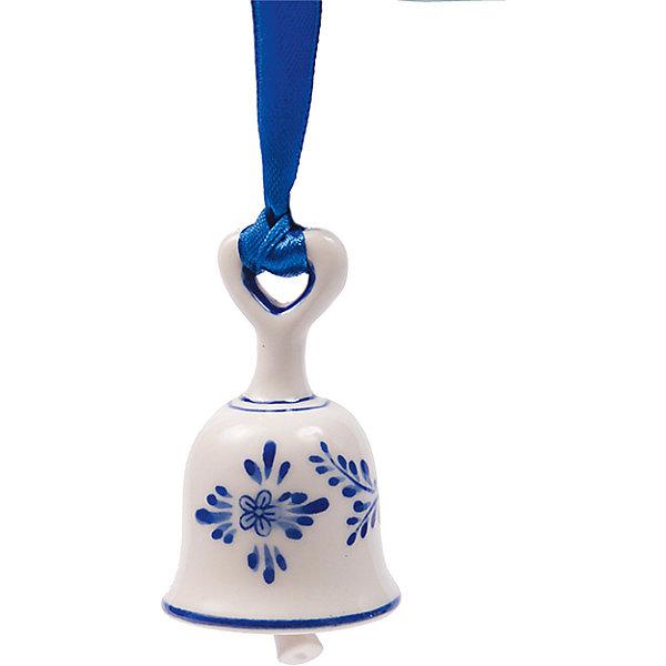 Новогоднее подвесное елочное украшение Колокольчик из керамикиНовинки Новый Год<br><br><br>Ширина мм: 40<br>Глубина мм: 40<br>Высота мм: 70<br>Вес г: 43<br>Возраст от месяцев: 24<br>Возраст до месяцев: 2147483647<br>Пол: Унисекс<br>Возраст: Детский<br>SKU: 7129015