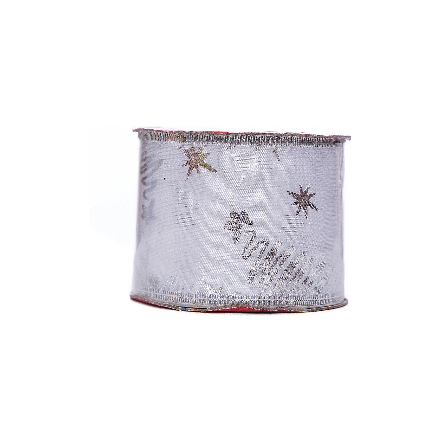 "Новогодняя лента ""Белый снег"" арт.38894/12 от myToys"
