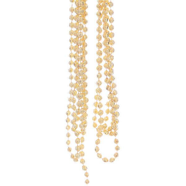 Новогодняя гирлянда Золотой маскарад из полистирола, 76089