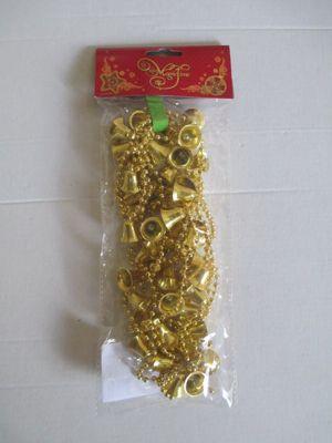Magic Time Новогодняя гирлянда Золотые колокольчики из полистирола, 76097
