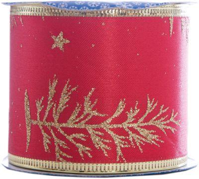 Magic Time Новогодняя лента Золотые снежинки из полиэстера на картонной катушке, 76226